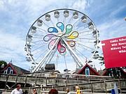 RUEDA.  La rueda, característica de los parques de atracciones, es gigantesca en Hersheypark.