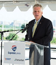 DISCURSO. El gobernador del estado de Virginia, Terry McAuliffe.