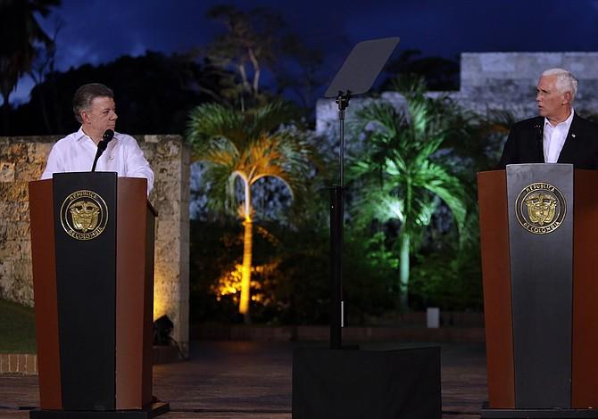 La crisis de Venezuela marca el viaje de Pence a América Latina