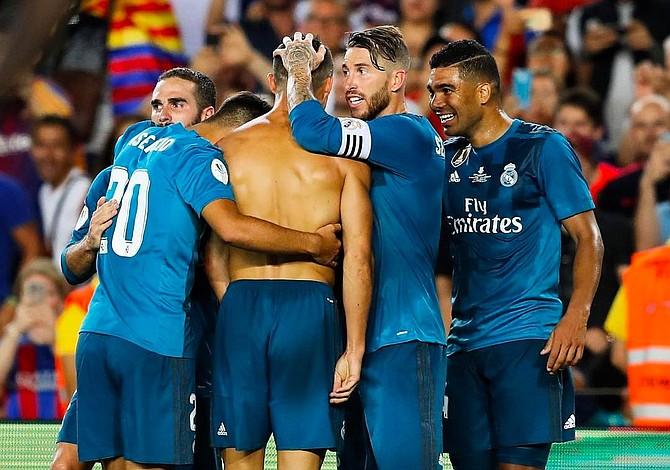 Real Madrid tomó ventaja sobre el Barcelona en el primero de la Super Copa de España 3-1