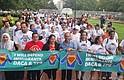 Luego de una concentración frente a la Casa Blanca, inició la marcha por los alrededores
