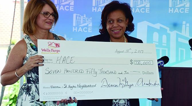 La Fundación Regional Wells Fargo ha otorgado 750.000 dólares a la Asociación Hispana de Contratistas y Empresas  (HACE), para elaborar un plan de reurbanización a cinco años, para los barrios Fairhill y St. Hugh. La organización ha utilizado donaciones similares para empujar la construcción y la reurbanización.