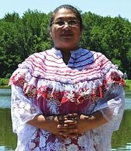TRADICIÓN. Maria Toledo con su traje típico guatemanteco