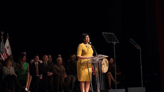 ALCALDESA. La Alcaldesa de DC, Muriel Bowser durante su discurso anual en el que informa al pueblo los avances realizados en el Distrito de Columbia y habla sobre los futuros retos para la ciudad.