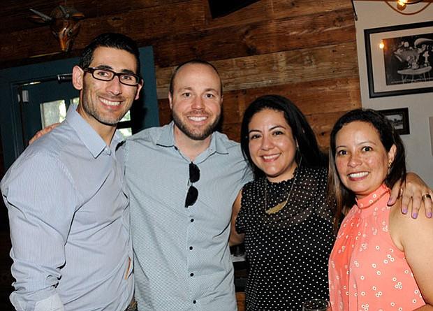 De izquierda a derecha: Fernando Nieri, Tyson Neal, Angela Salas, Totty Pedemonte