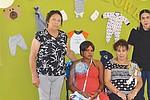 """De Izq. a Der.: """"Mamá Yoli"""", las festejadas, Marie Thomas y Lourdes Barraza y Laura Soberanis, directora del proyecto Monumento Nacional de Los Migrantes."""
