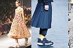 1. Una modelo presenta una creación de Huemn durante la Amazon India Fashion Week otoño/invierno 2017 en Nueva Delhi, India. EFE/EPA / HARISH TYAGI 2. Desfile de la firma Existence Research Program en la Mercedes-Benz Fashion Week. EFE/Zipi 3.Las zapatillas deportivas ya se llevan hasta para una boda. En la imagen una casamentera con unas Converse. EFE/EPA/FRIEDEMANN VOGEL