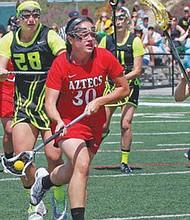 El Lacrosse es un deporte que gusta a los sandieguinos, pues los partidos del conjunto femenil de SDSU, siempre tiene lleno. Foto-Cortesía: SDSU.