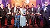 los premiados de la noche.