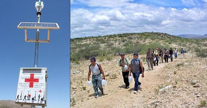 Vista de una torre de rescate que tienen desplegadas por el desierto de Arizona para que los inmigrantes puedan ser encontrados por un agente. EFE-Archivo.