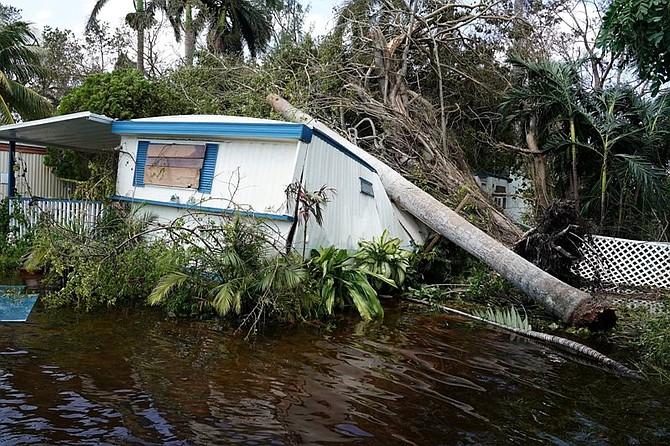 Destrozos en los cayos de Florida