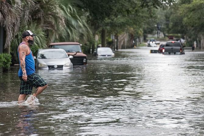 Inundaciones en el norte de Florida y estados fronterizos como Georgia y Carolina del Sur, por Irma