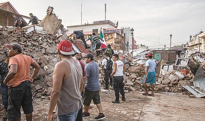 La región que más sufrió el terremoto