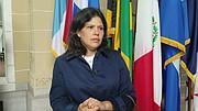 Johanna Aguirre, viuda de una víctima de la represión en 2014. Su esposo fue asesinado a golpes presuntamente por la Guardia Nacional