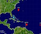 Dos huracanes y una tormenta tropical en el atlántico
