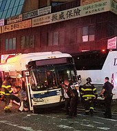 Fue un choque de dos autobuses