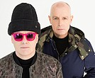 Los líderes del grupo británico Pet Shop Boys, Chris Lowe y Neil Tennant