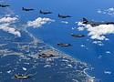 Los bombarderos estuvieron cerca de Corea del Norte