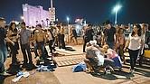 ESPANTOSO. Una multitud de más de 22 mil personas escuchaba a la estrella de música country Jason Aldean cuando se desató una lluvia de disparos de un arma de fuego automática desde el piso 32 del hotel Mandalay Bay.