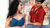 Iliana García como Vanessa y Diego Klock-Perez como Usnavi en la producción del musical de Lin-Manuel Miranda, In The Heights de Wheelock Family Theatre