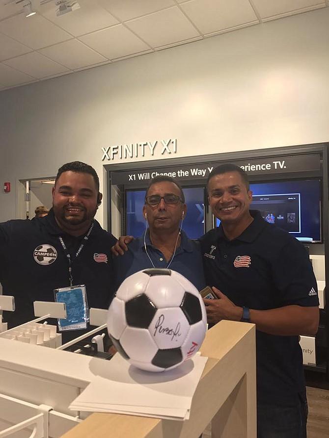 José Gabriel Cabrera, Marcelo Briones y Omar Cabrera de Punto Penal y Gol. FOTO: Cortesía Punto Penal y Gol