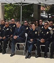 Oficiales del Departamento de Policía de Chula Vista durante un acto de reconocimiento a su trabajo. Foto-Archivo: Horacio Rentería/El Latino San Diego.