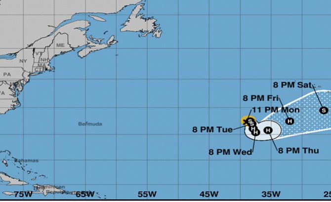 Ofelia podría alcanzar la costa española como huracán