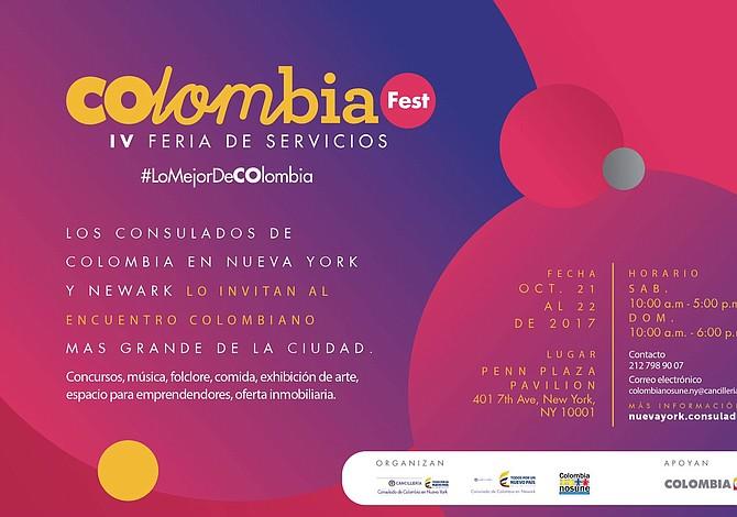 Colombianos podrán homenajear a su país en ColombiaFest