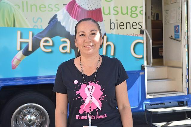 María Sánchez, gerente del Programa de Clínicas Móviles para San Ysidro Health Centers.