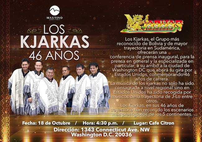 Grupo Los Kjarkas, tradición boliviana en DC
