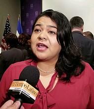 NEGOCIACIONES. La Cónsul Ena Úrsula Peña se mostró optimista ante negociaciones de su gobierno con EEUU.