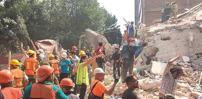 Memorial en honor a los fallecidos por terremotos