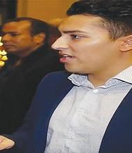 Vicente Saldaña ofreció su testimonio. Foto-Cortesía: Jorge Nieto.