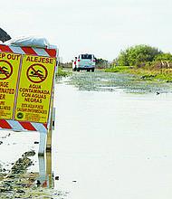 Las Comisiones Internacionales de Límites y Aguas (CILA) procurarán establecer un mecanismo efectivo de avisos cuando ocurran derrames de aguas a través de la frontera. Foto de Manuel Ocaño.