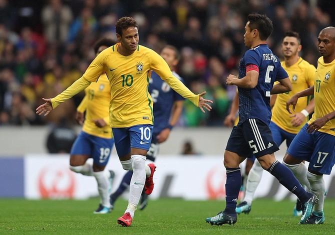 Brasil ganó de forma contundente a Japón partido amistoso disputado en Francia