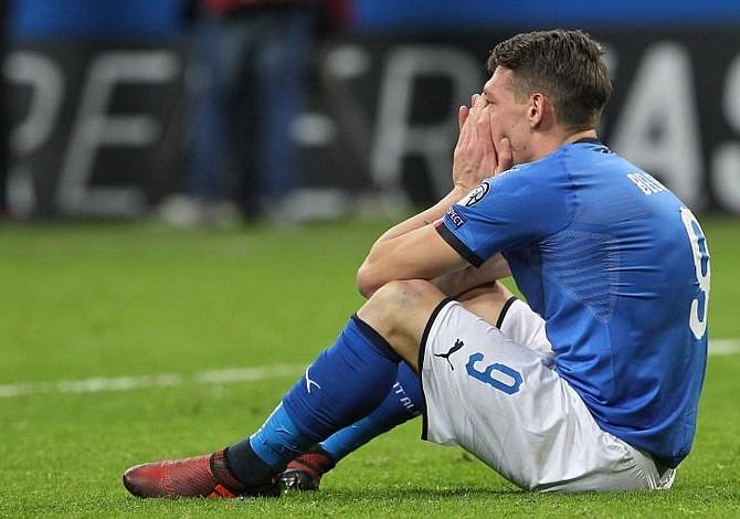 Drama deportivo: Italia quedó fuera del mundial por primera vez en 60 años