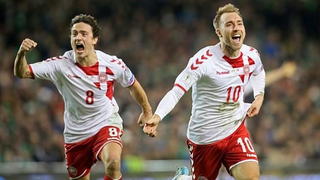 Dinamarca vence 1-5 en Dublín y se convierte en el 30º equipo clasificado