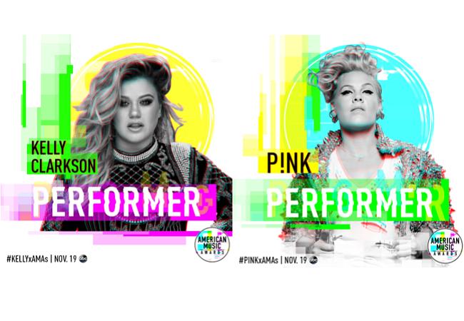 "Kelly Clarkson y Pink abrirán los ""2017 American Music Awards"""