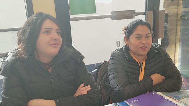 Andrade (izq) y Hernández, después de finalizar el Asociado quieren continuar con una carrera universitaria en el área