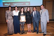 Reconocimiento. Miriam Perlacio fue reconocida como emprendedora del año por la organización