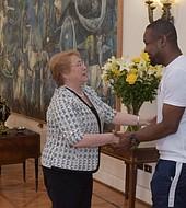 Richard Joseph recibido por la presidenta Bachelette