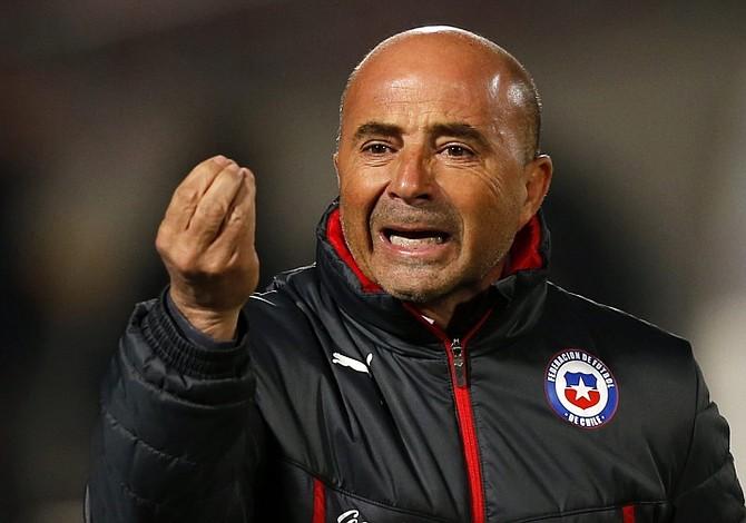 El seleccionador argentino Jorge Sampaoli visitó a los jugadores del Atlético