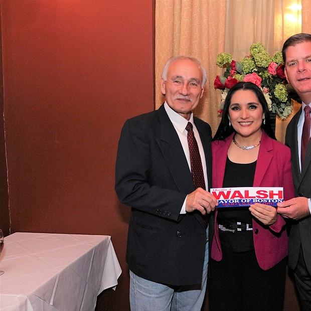 Verónica Robles, Willy López y al Alcalde Martin Walsh