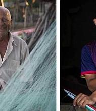 Ignacio Rodríguez y David Fuentes dos generaciones de habitantes de la Isla.