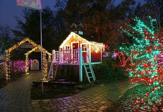 MD: Descubra un jardín de luces navideñas