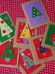 Manualidades De Tarjetas De Navidad Para Nios - Tarjetas-navideas-para-nios