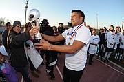 ORGULLO. El dirigente de Toluca, Rogelio Clemente, dijo que se sacaron la espinita en esta liga.
