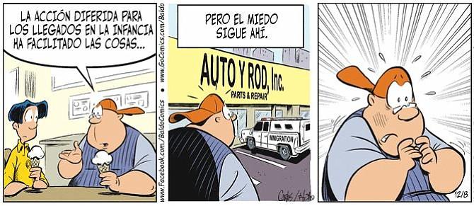 """La caricatura de Baldo le pone rostro al debate de los """"soñadores"""""""