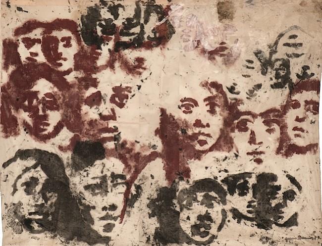 """MEMORIA. El óleo en gaza de seda """"Desaparecidos"""" (1973) de la artista Gracia Barrios que forma parte de la Colección Memoria."""
