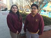 ALUMNOS. Clarisa y Óscar fueron dos de los estudiantes de Columbia Heights Educational Campus que participaron en la exploración al planeta Marte el 11 de diciembre en el Laboratorio de Verizon.